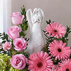 Serenity Angel Pink and Purple Floral Arrangement