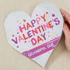 Valentine's Day Love Personalized Heart Greeting Card