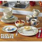 16-Piece Garden Rooster Dinnerware Set