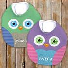 Personalized Owl Baby Bib