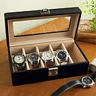 Personalized Leather Watch Valet