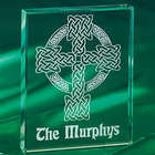 Celtic Cross Glass Block