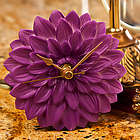 Purple Dahlia Flower Time Clock