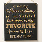 Personalized Favorite Love Story Chalkboard Wall Art