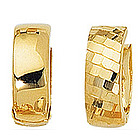 Reversible Snuggie Earrings in 14K Yellow Gold