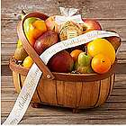 Organic Living Fruit Basket with Personalized Ribbon