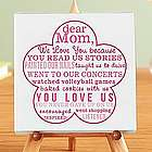 Personalized Love You Because Canvas