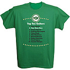 Personalized Top Ten Golfers T-Shirt