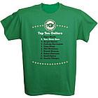 Personalized Top Ten Golfers T-Shirt