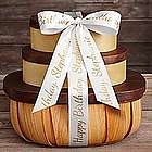 Organic Gift Tower with Personalized Ribbon