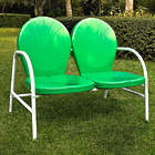 Griffith Retro Metal Loveseat in Green