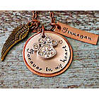 Angel Pet Remembrance Personalized Necklace