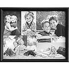 Personalized Framed Black and White Photo Collage Canvas