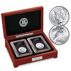 The First and Last Peace Silver Dollars Coin Set with Deluxe Case