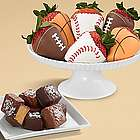 6 Sea Salt Caramels and 6 Sports Theme Strawberries