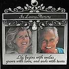 In Loving Memory Double Photo Ornament