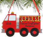 Personalized Firetruck Christmas Ornament