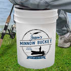 Personalized Fishing Cooler and Bait Bucket Combo