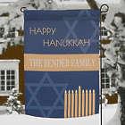Personalized Hanukkah Garden Flag