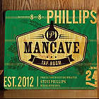 Man Cave Tap Room Personalized Wood Tavern Sign