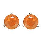 Fire Opal Stud Earrrings in 14K White Gold