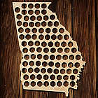 Georgia Beer Cap Map Bar Sign