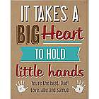 Personalized Big Heart Little Hands Canvas