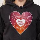 We Love You To Pieces Personalized Hooded Sweatshirt in Black