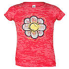 Junior Tennis Flower Power Pink Acid Wash T-Shirt