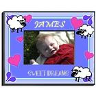 Boy's Counting Sheep Personalized Picture Frame