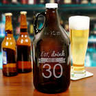 Eat, Drink, and Be Personalized Birthday Growler