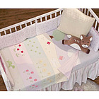 In the Garden Mural Baby Blanket