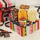 Happy Birthday Striped Snack Gift Box