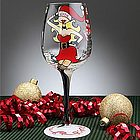 Santa's Helper Christmas Wine Glass