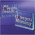 Personalized I/We Heart 2 Sided Glass Block