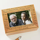 Definition of Dad Personalized Photo Keepsake Box