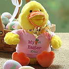 Girl's Personalized My First Easter Duck Stuffed Animal