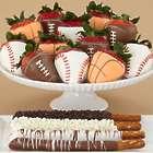 4 Caramel Pretzels & Full Dozen Sports Strawberries