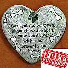 Not Forgotten Dog Heart Memorial Stone