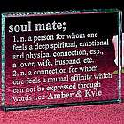 Soul Mate Glass Block
