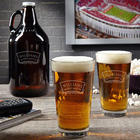 Timeless Wedding Personalized Pint Glass and Beer Growler