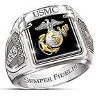 Men's US Marines Stainless Steel Ring