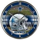 "Dallas Cowboys Round 12"" Chrome Wall Clock"