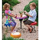 Weather-Resistant Powder-Coated Metal Flower Garden Stool