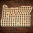 Giant XL Oregon Beer Cap Map