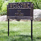 Personalized Arts & Crafts Antiqued Bronze Tone Welcome Sign