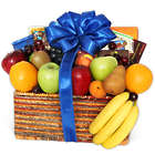 Same-Day Delivery Fruit and Gourmet Snacks in Gift Basket