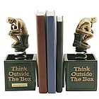 Personalized Think Out of the Box Bookends