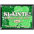 Jolly Green Clover Personalized Pub Sign Framed Print