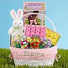 Personalized All-In-One Pink Easter Basket